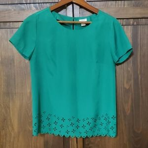 J.Crew Mercantile Green blouse XXS